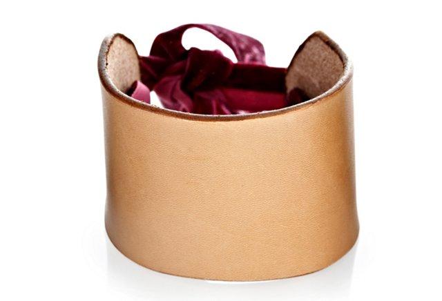 Ribbon Cuff, Burgundy