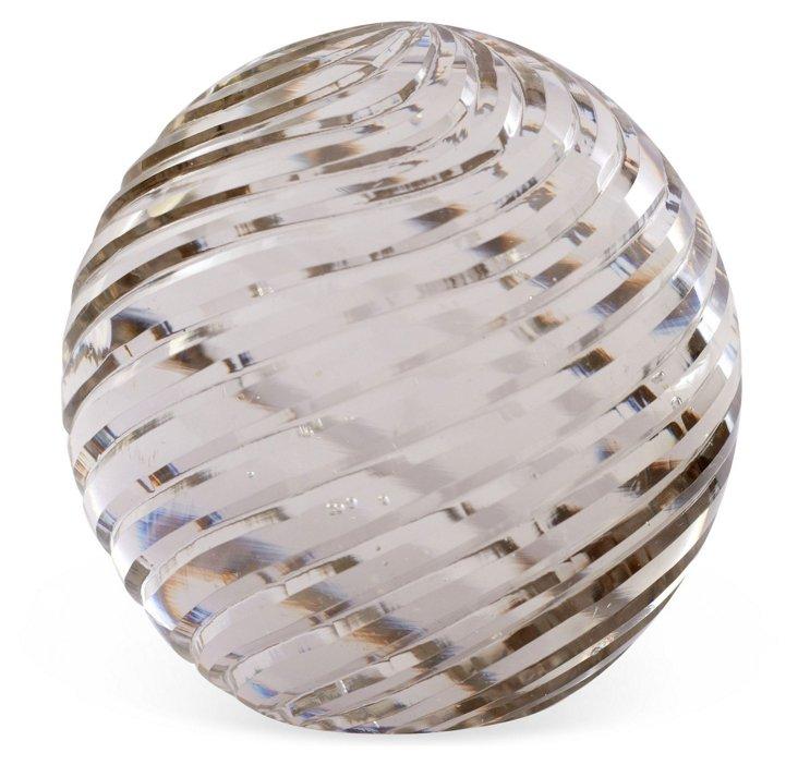Glass Swirl-Cut Paperweight, Large