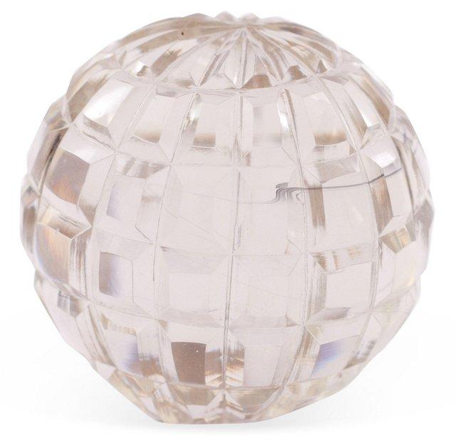 Glass Globe-Cut Paperweight, Small