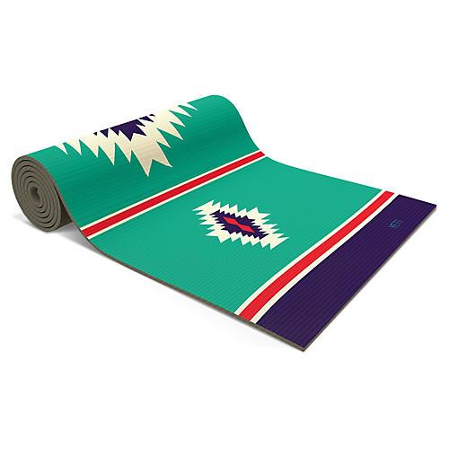 Warren Pvc Yoga Mat, Turquoise/Multi