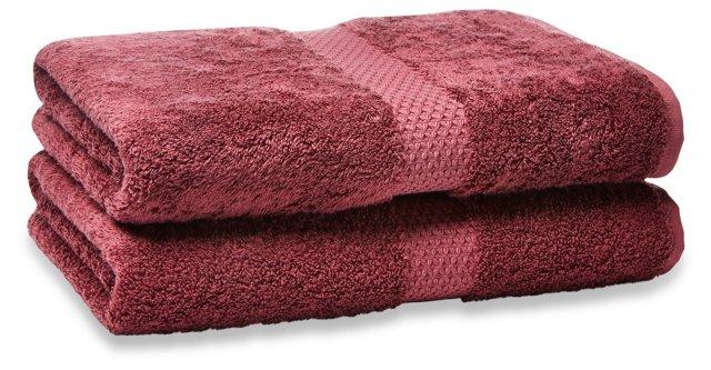 Etoile Bath Sheet, Rubino