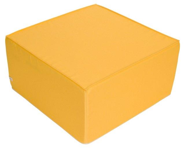 Softblock Medium Ottoman, Yellow