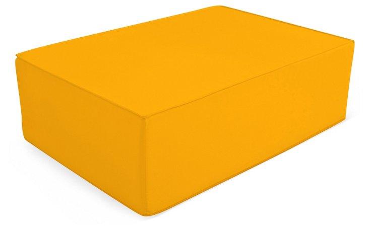 Outdoor Lowboy Ottoman, Yellow