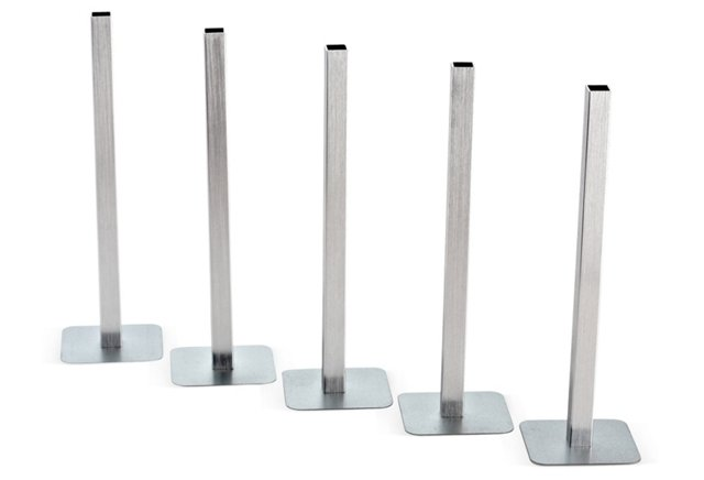 S/5 Silver Magnetic Vases