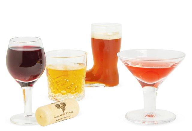 S/4 Mini Cocktail Glasses