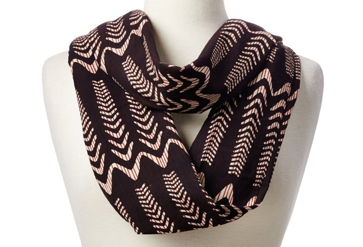 Illusion Waves Scarf, Black/Red/White