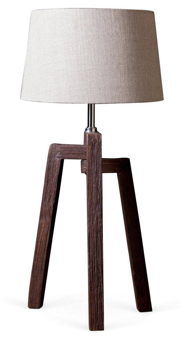Three-Legged Table Lamp, Tan