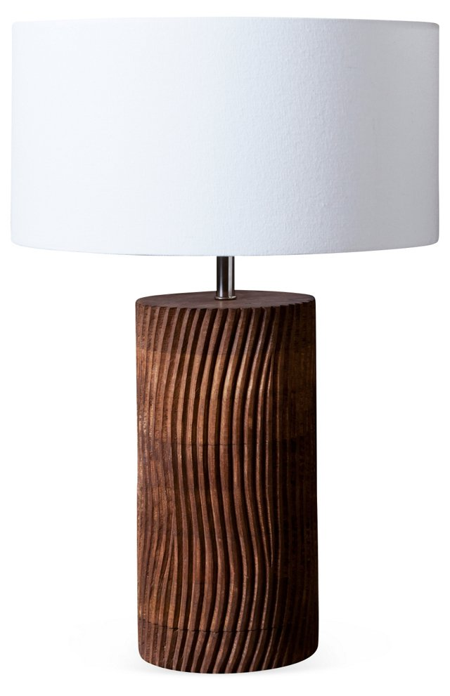 Carve Table Lamp, White