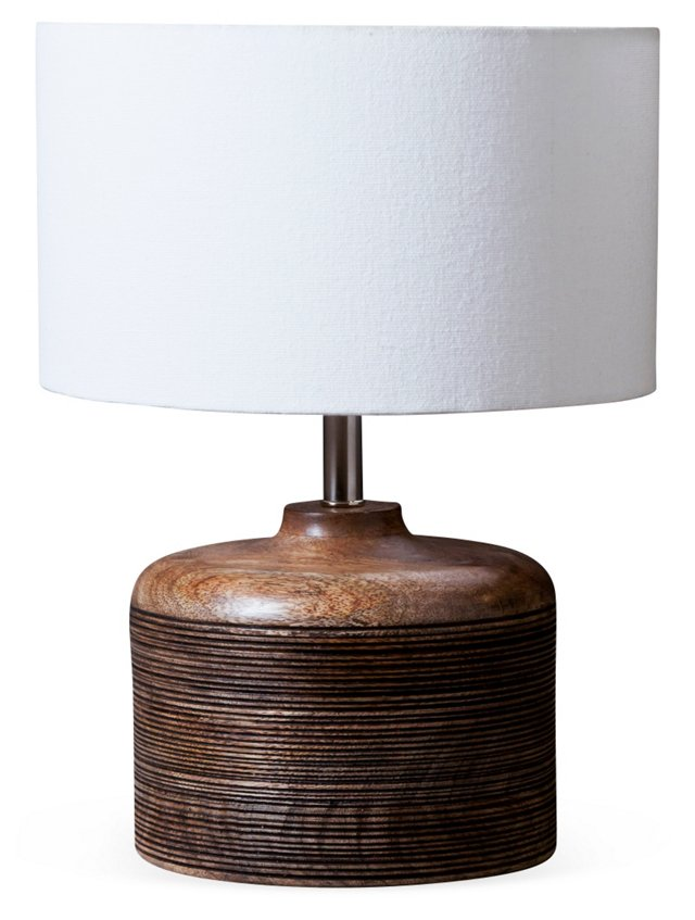 Lined Table Lamp, Short