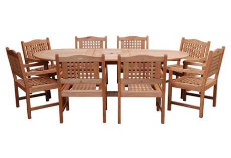 Milano Eucalyptus Extendable Table Set