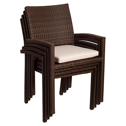 Liberty Armchairs, Set of 4