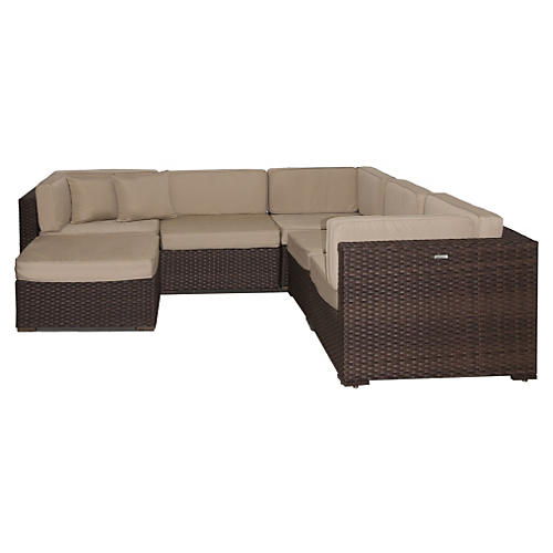 Bellagio 6-Pc Sectional Set, Beige