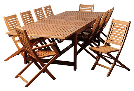 Beth  11-Pc Extendable Dining Set