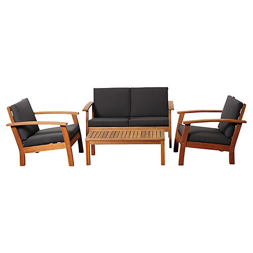Jill Eucalyptus 4-Pc Conversation Set