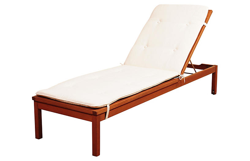 Delray Rolling Chaise Lounge