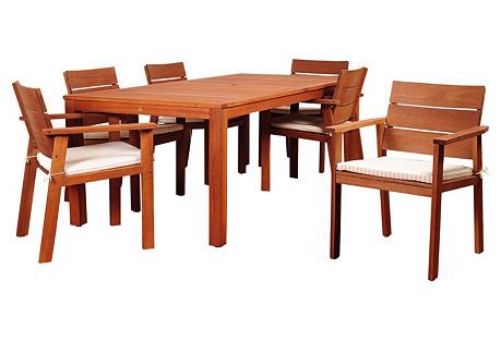 Holgate Eucalyptus 7-PC Dining Set