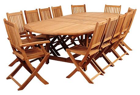 Petersburg Park Eucalyptus 13-Pc Dining