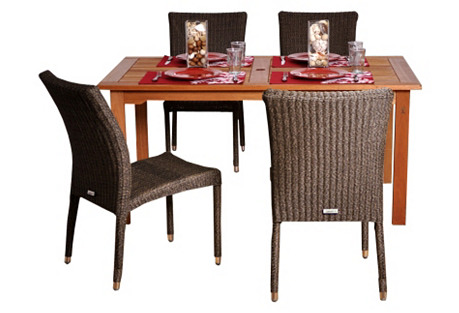 Brugge 5-Pc Rectangle Outdoor Dining Set