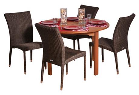 Lorraine 5-Pc Round Outdoor Dining Set