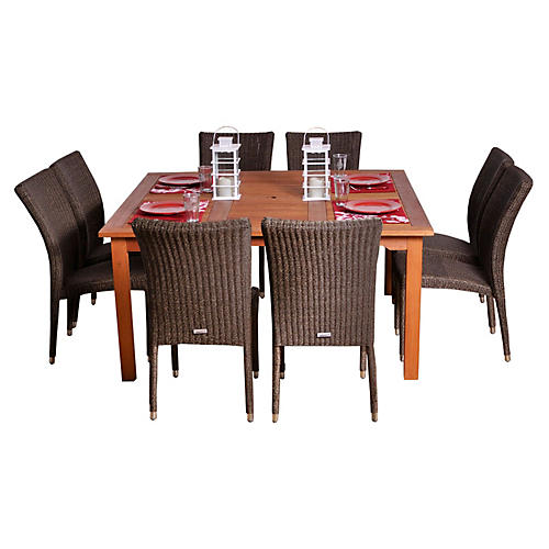 Provence Eucalyptus 9Pc Outdoor Dining