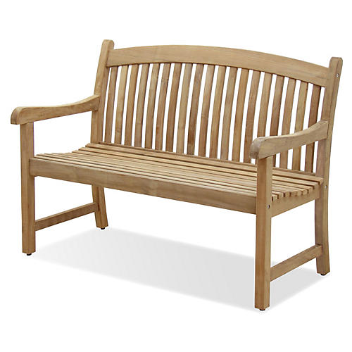 Newcastle 4' Outdoor Teak Bench
