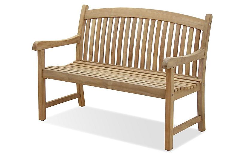 Newcastle 4' Outdoor Teak Bench