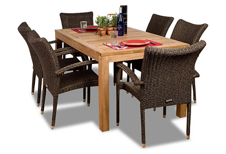 Brussels 7-Pc Rect. Outdoor Dining Set
