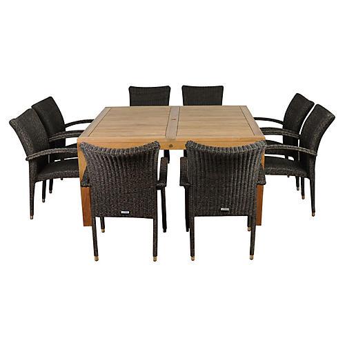 Versailles 9-Pc Sq. Outdoor Dining Set