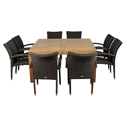 Versailles 9-Pc Sq. Outdoor Dining Set