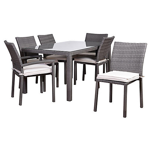 7-Pc Atlantic Liberty Dining Set, White