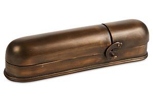 "8"" Pencil Box, Brass"