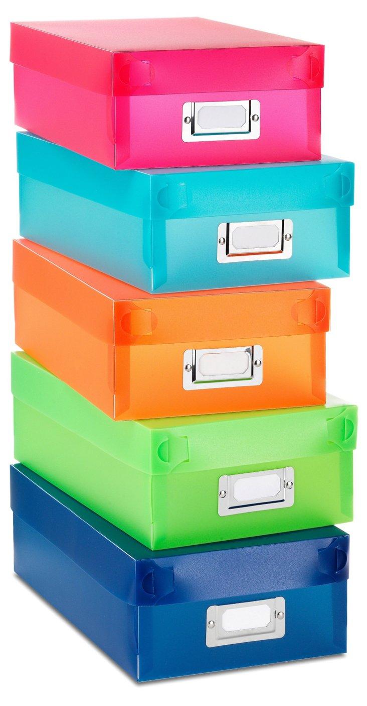 S/10 Plastic Organizer Boxes, Multi