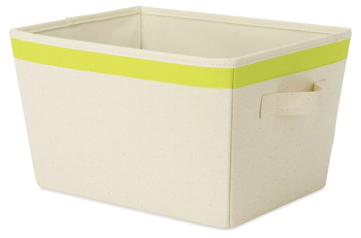 S/2 Small Totes, Green