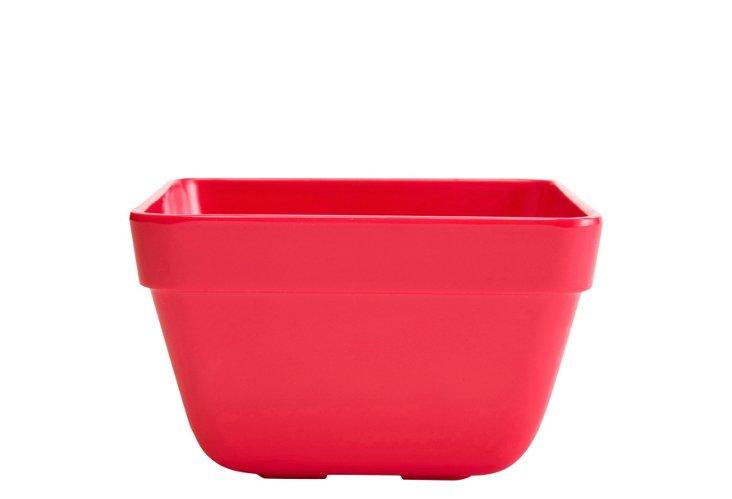 S/6 Melamine Callaway Bowls, Red