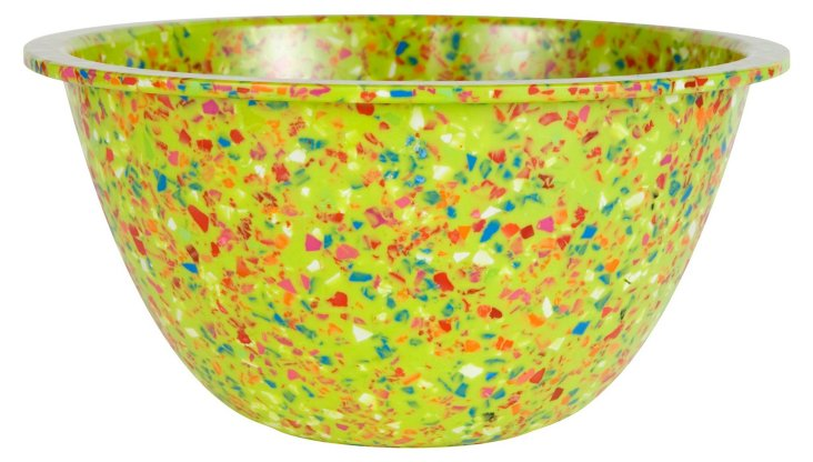 S/6 Confetti Bowls, Kiwi