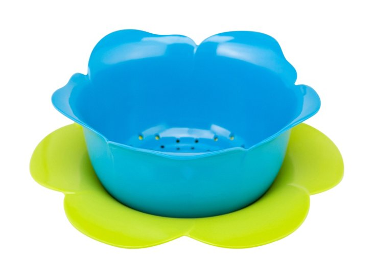 S/2 Rose Colanders & Drip Bowls