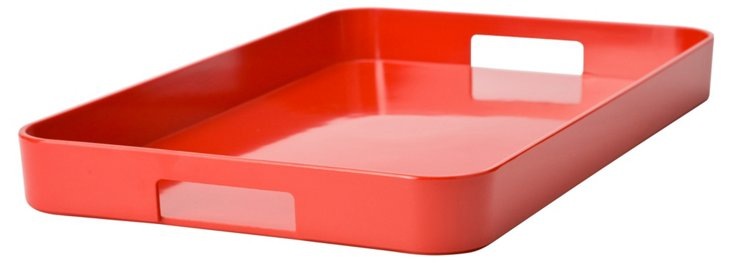 Melamine Gallery Serving Tray, Red