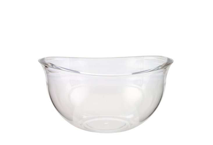Flared Serving Bowl, Clear