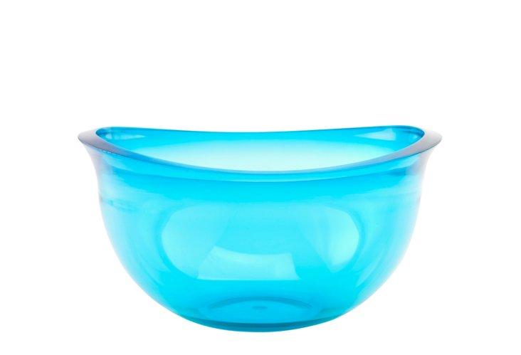 Flared Serving Bowl, Azure