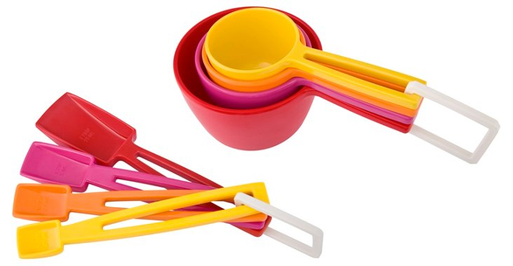 8-Pc Measuring Cups & Spoons