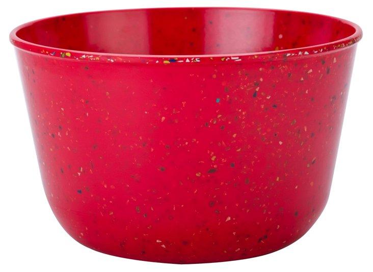 5 Qt Serving Bowl, Confetti Red