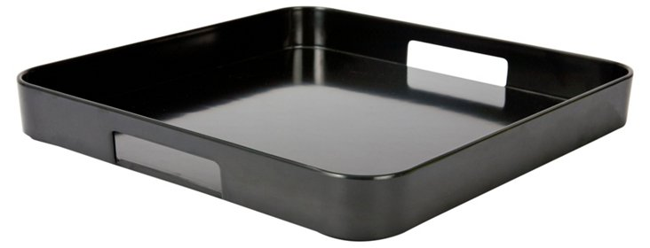 "Gallery Black Serving Tray, 13"" x 13"""