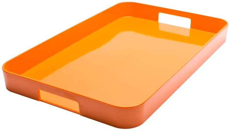 "Orange Gallery Tray, 21"""