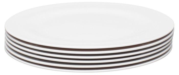 S/6 Melamine Ella Salad Plates, White