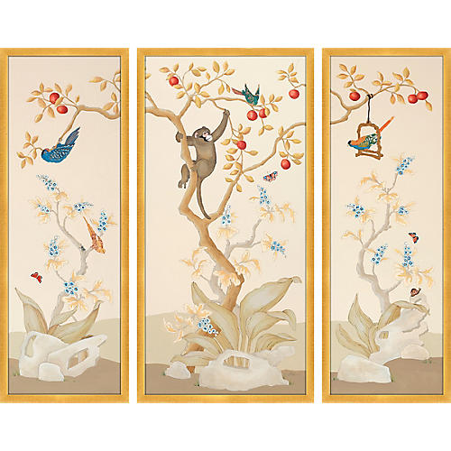 Chinoiserie Light Triptych, Alison Cosmos