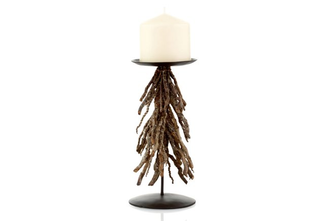 Holiday Twig Pillar Holder