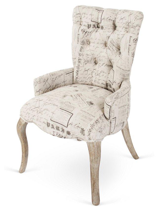 Iris Tufted Chair, Print