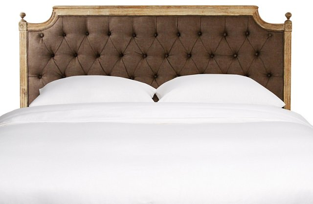 Valeria Tufted Headboard, Queen, Mocha