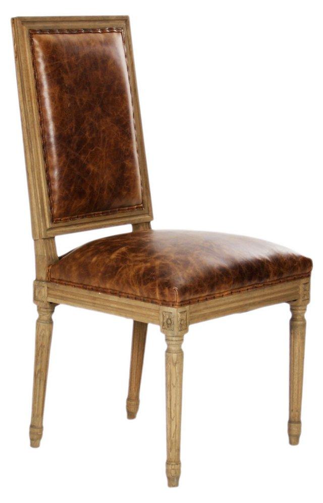Morgan Side Chair, Chestnut