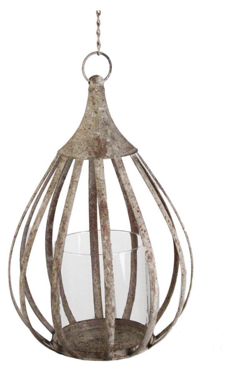 "14"" Cassandra Metal Hanging Lantern"